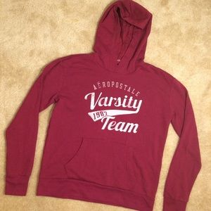Maroon burgundy Aeropostale pull over sweater